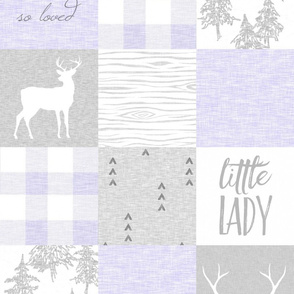 So Loved, Little Lady - Lilac And Grey, Baby Girl Quilt