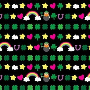 aloha shamrock washi tape on black