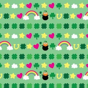aloha shamrock washi tape on green