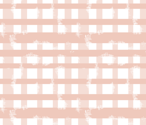 Pink plaid worn patches fabric by mrshervi on Spoonflower - custom fabric