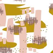 Pink Olive Splotches