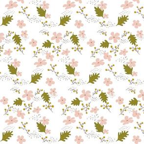 Pink Olive floral