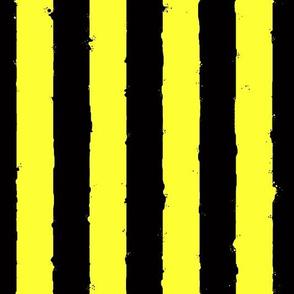 distress stripe black yellow bumblebee
