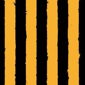 distress stripe black orange