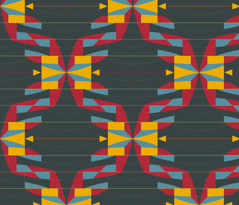 Solipsis (Fire and Light) fabric by david_kent_collections on Spoonflower - custom fabric