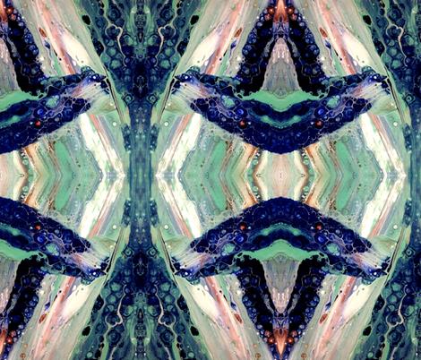 Ballena en azul bailando fabric by lil_chick_ent_ on Spoonflower - custom fabric