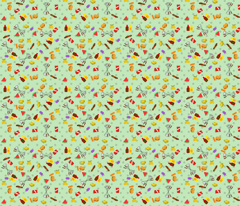 Backyard Barbecue fabric by sunflowerfields on Spoonflower - custom fabric