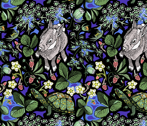 Southern Bunnies and Boxturtles fabric by katie_hayes on Spoonflower - custom fabric