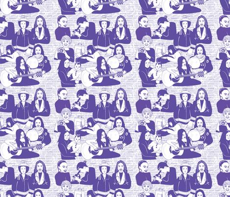 Meaningful Sisterhood around the world. fabric by applebutterpattycake on Spoonflower - custom fabric