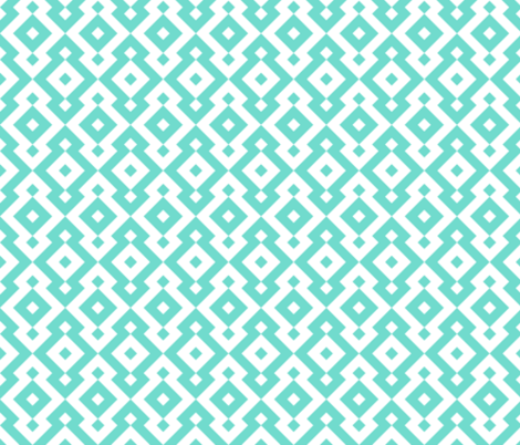 Geometric Pattern: Diamond: Blue fabric by red_wolf on Spoonflower - custom fabric