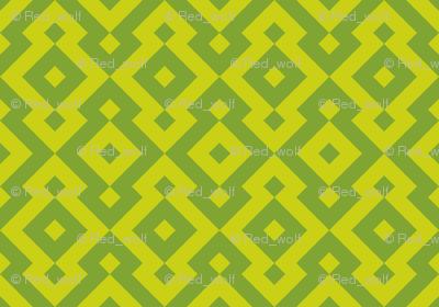 Geometric Pattern: Diamond: Green