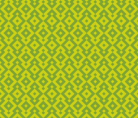 Geometric Pattern: Diamond: Green fabric by red_wolf on Spoonflower - custom fabric