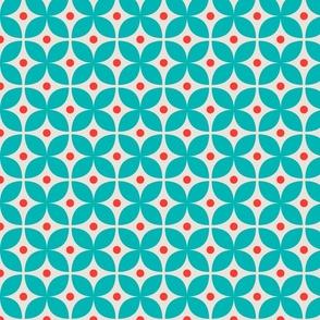 Geometric Pattern: Stylised Flower: Blue