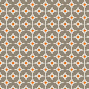 Geometric Pattern: Stylised Flower: Grey