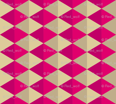 Geometric Pattern: Split Diamond: Pink