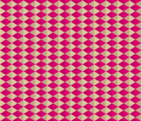 Geometric Pattern: Split Diamond: Pink fabric by red_wolf on Spoonflower - custom fabric
