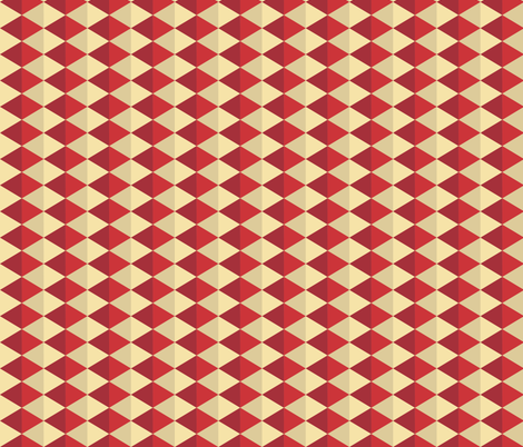 Geometric Pattern: Split Diamond: Red fabric by red_wolf on Spoonflower - custom fabric