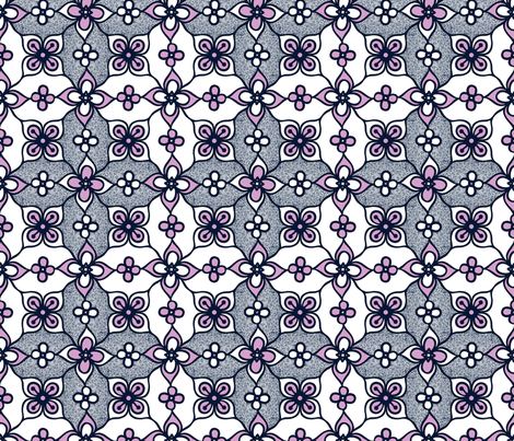 Flowers and Swirls Pattern fabric by martaharvey on Spoonflower - custom fabric