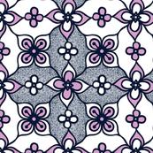 Flowers and Swirls Pattern