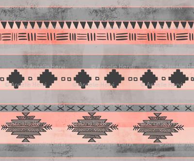 Tween Aztec tribal stripe