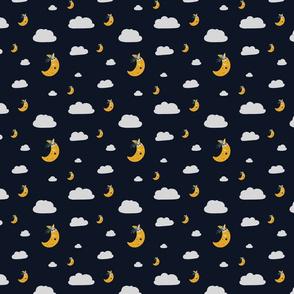 Tiny Moons, Clouds, Night Sky