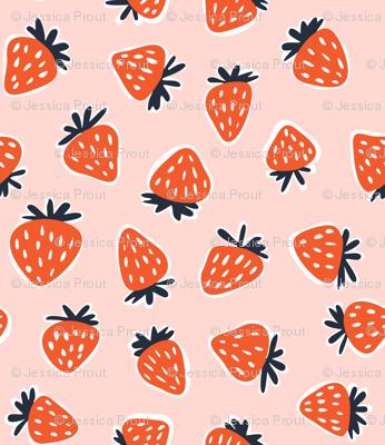 strawberries - summer fabric