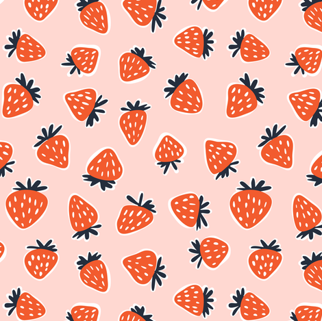strawberries - summer fabric fabric by littlearrowdesign on Spoonflower - custom fabric