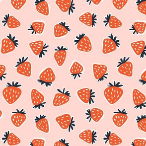 strawberries - summer fabric