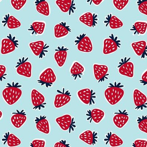strawberries - summer fruit fabric