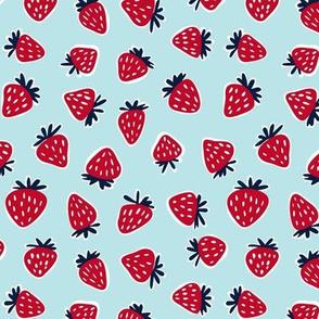 strawberries - summer fruit fabric