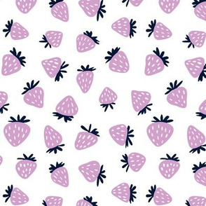 strawberries in orchid and navy