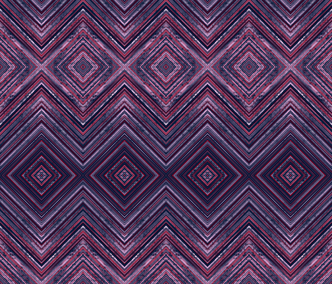 Orchid & Navy Geometric fabric by fanciful_whimsy on Spoonflower - custom fabric