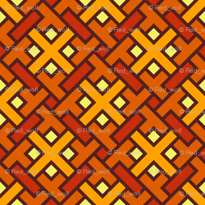 Geometric Pattern: Weave: Orange
