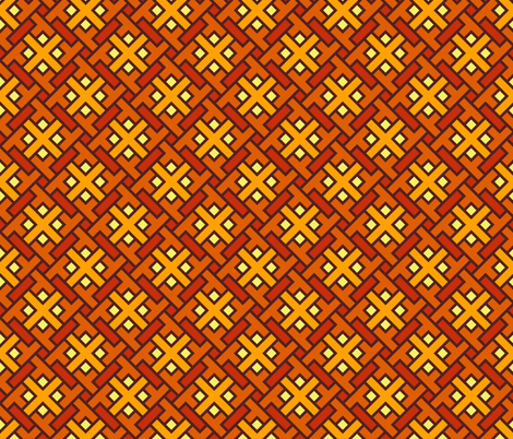 Geometric Pattern: Weave: Orange fabric by red_wolf on Spoonflower - custom fabric