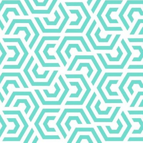 Geometric Pattern: Layered Hexagon: Blue