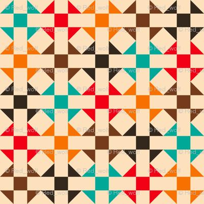 Geometric Pattern: Quilt: Summer