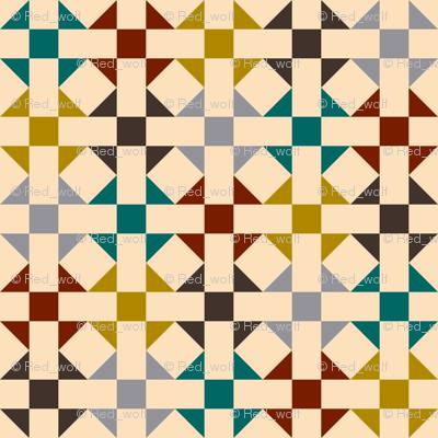Geometric Pattern: Quilt: Autumn