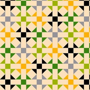 Geometric Pattern: Quilt: Spring
