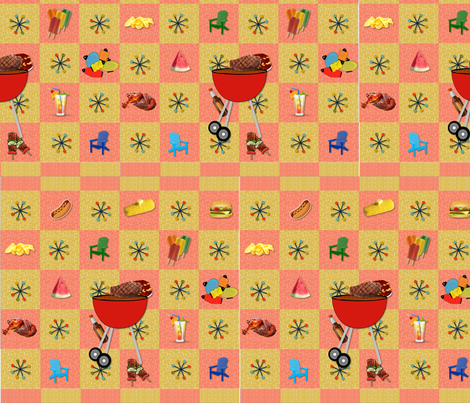 retro_suburb_bbq fabric by quizzicalkittydesigns on Spoonflower - custom fabric