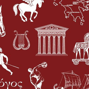 Ancient Greece // Burgundy // Large