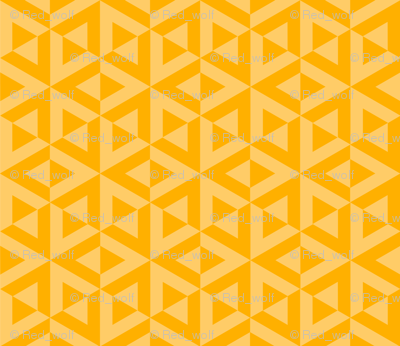 Geometric Pattern: Cube Split: Yellow