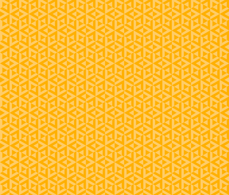 Geometric Pattern: Cube Split: Yellow fabric by red_wolf on Spoonflower - custom fabric