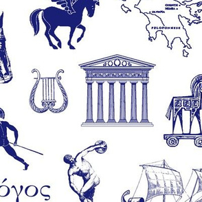 Ancient Greece // Blue // Large