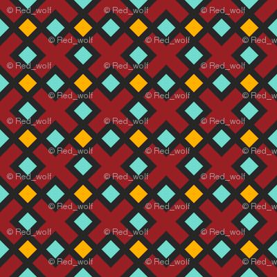Geometric Pattern: Weave: Red