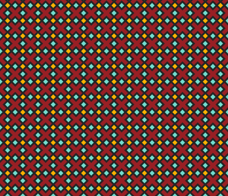 Geometric Pattern: Weave: Red fabric by red_wolf on Spoonflower - custom fabric