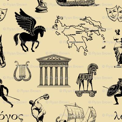 Ancient Greece // Tan // Large