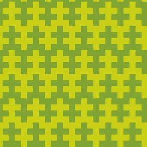 Geometric Pattern: Cross: Green
