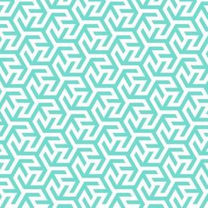 Geometric Pattern: Triskelion Fork: Blue