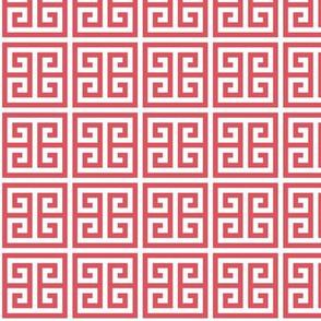 Geometric Pattern: Key Bridge: Red