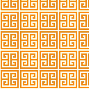 Geometric Pattern: Key Bridge: Orange